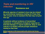 tests and monitoring in hiv infection18