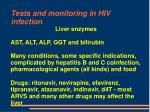 tests and monitoring in hiv infection45