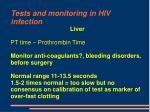 tests and monitoring in hiv infection58