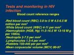 tests and monitoring in hiv infection68