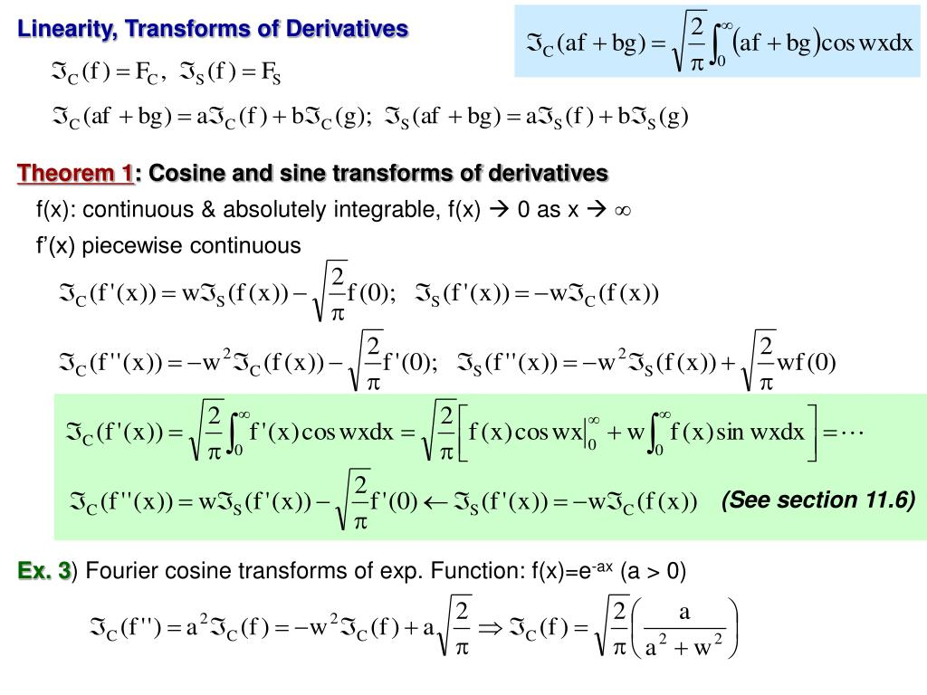 Linearity, Transforms of Derivatives