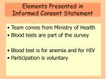 elements presented in informed consent statement