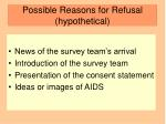 possible reasons for refusal hypothetical