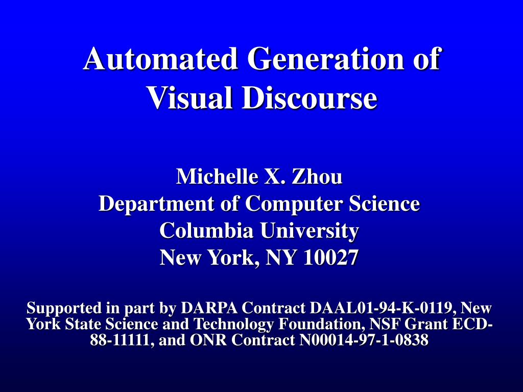 automated generation of visual discourse l.