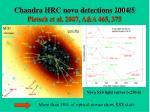 chandra hrc nova detections 2004 5 pietsch et al 2007 a a 465 375