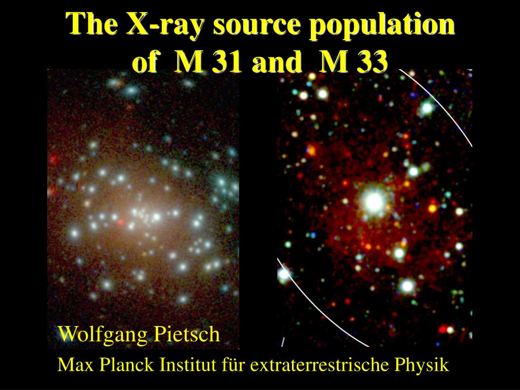 the x ray source population of m 31 and m 33 l.