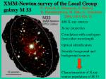 xmm newton survey of the local group galaxy m 33