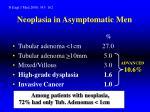 neoplasia in asymptomatic men