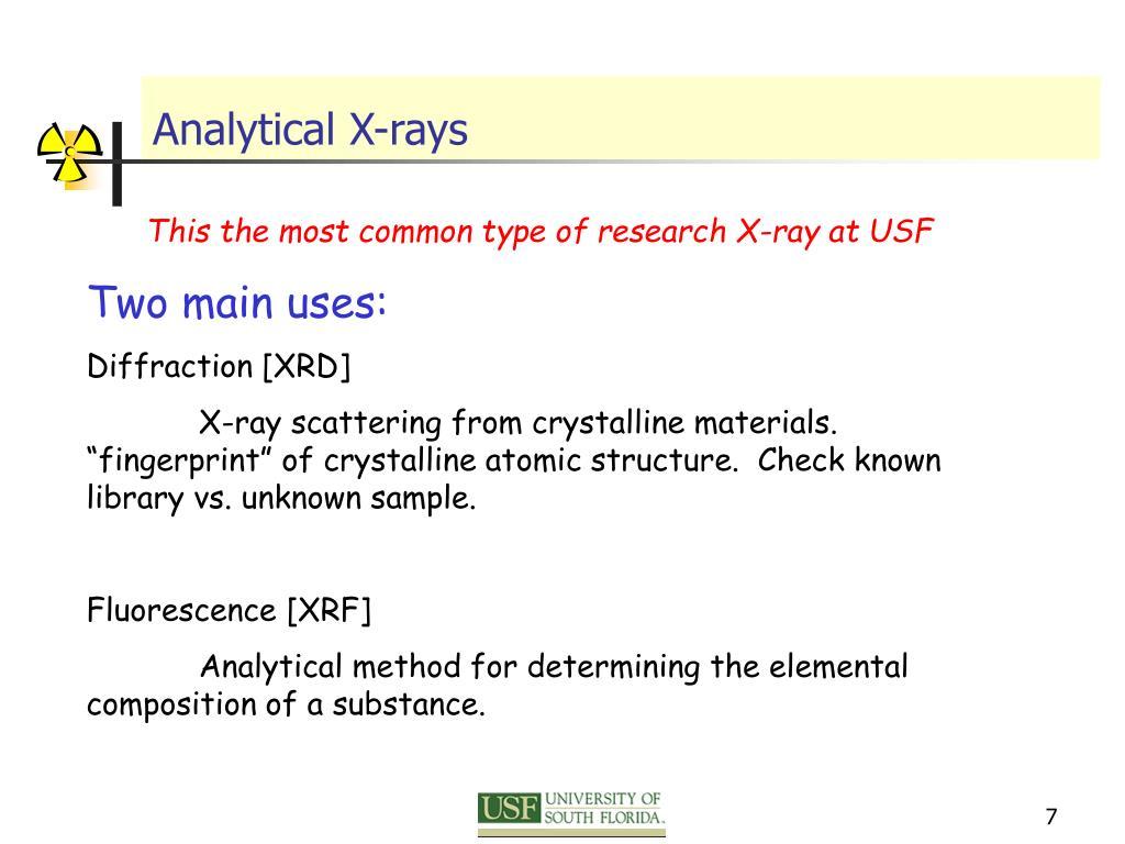 Analytical X-rays