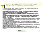 example of a usf radiation protection plan rpp