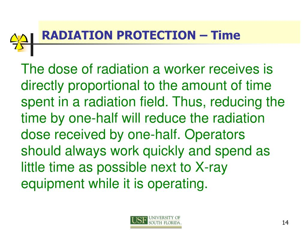 RADIATION PROTECTION – Time