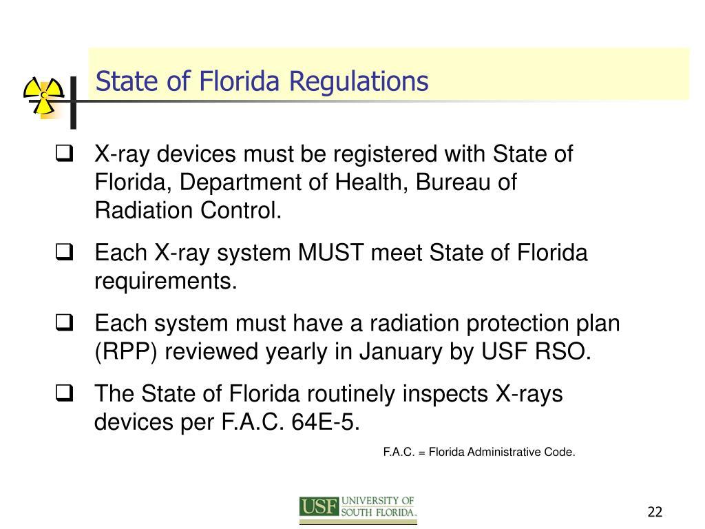 State of Florida Regulations