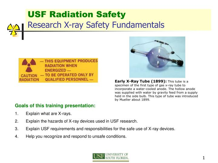 Usf radiation safety research x ray safety fundamentals