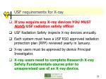 usf requirements for x ray