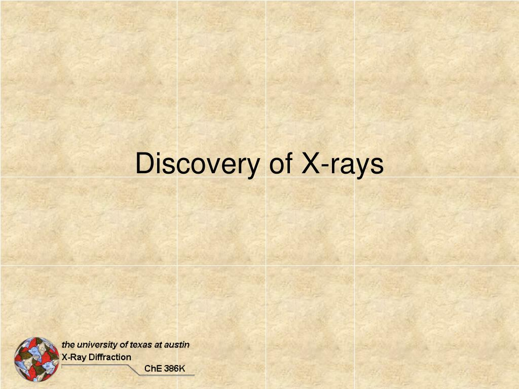discovery of x rays l.