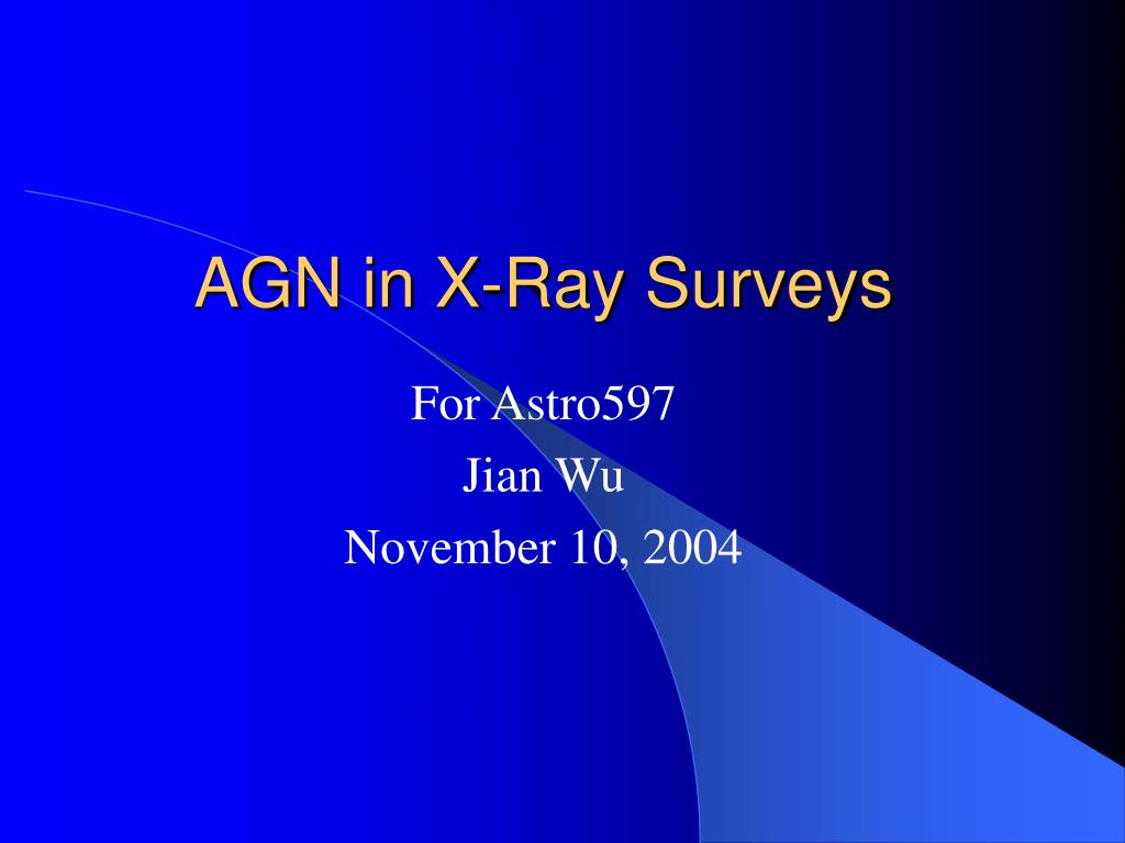 agn in x ray surveys l.