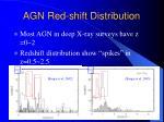 agn red shift distribution