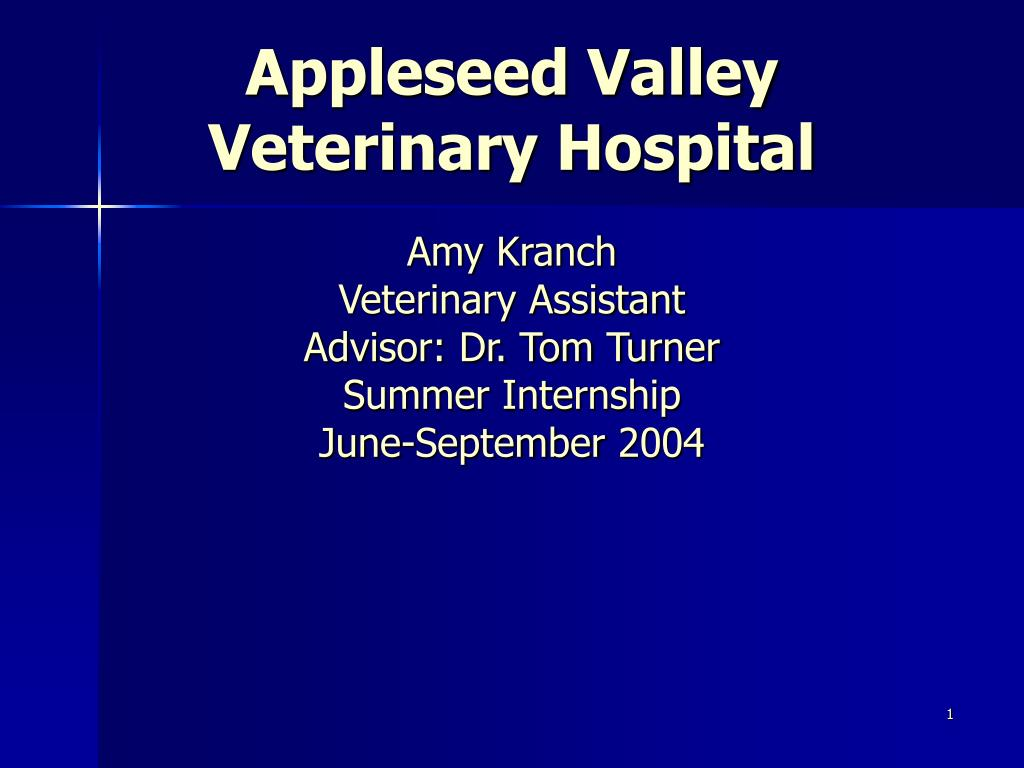 appleseed valley veterinary hospital l.