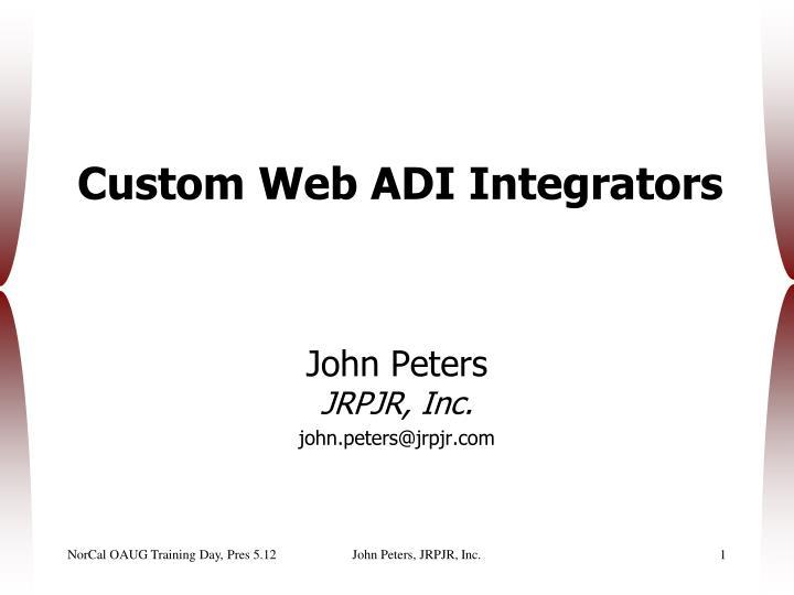 custom web adi integrators n.
