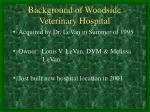 background of woodside veterinary hospital