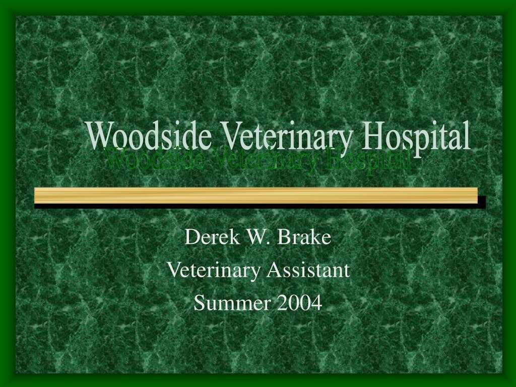 derek w brake veterinary assistant summer 2004 l.