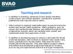 teaching and research