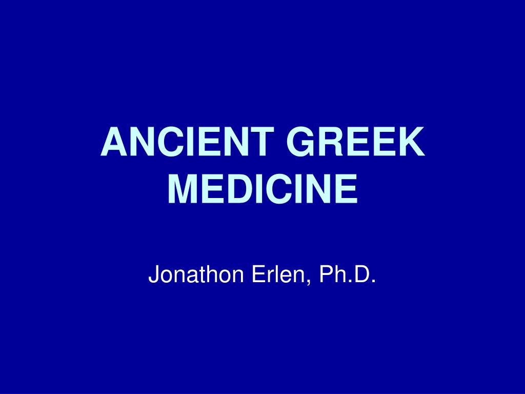 ancient greek medicine l.