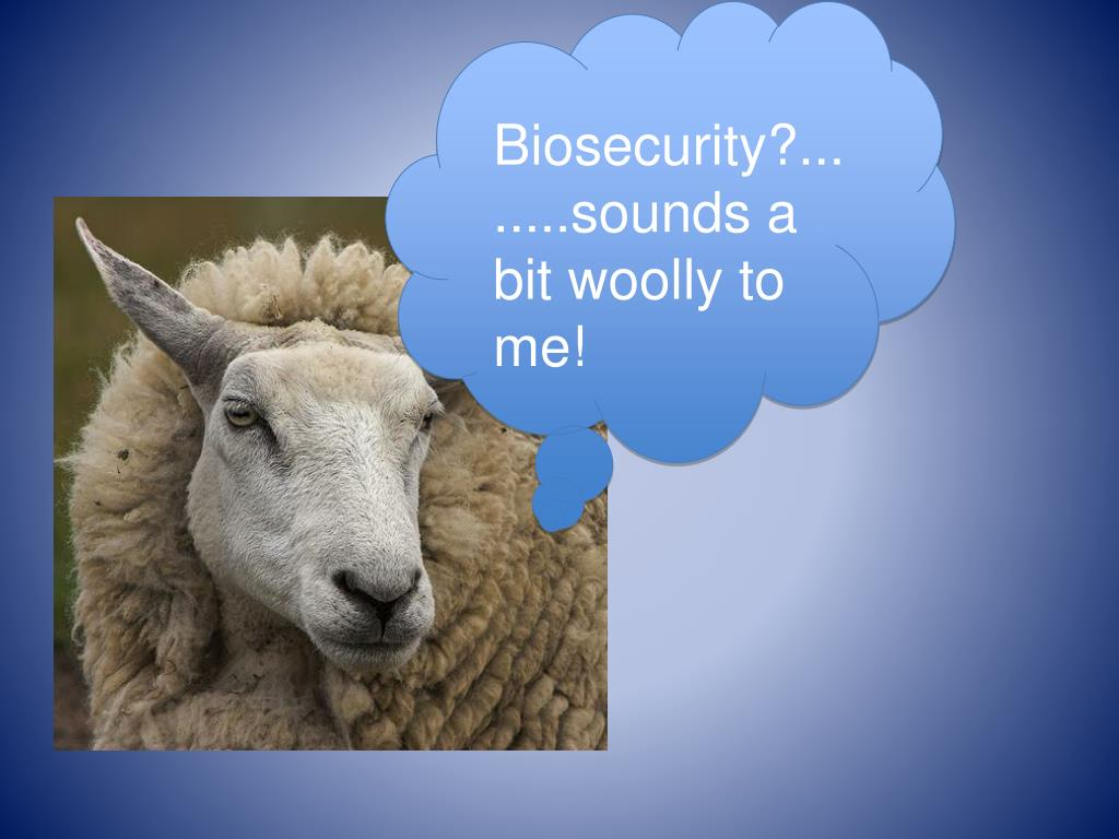 Biosecurity?........sounds a bit woolly to me!