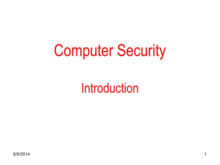computer security introduction n.