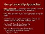 group leadership approaches1