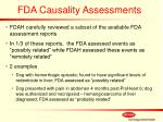 fda causality assessments
