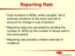 reporting rate