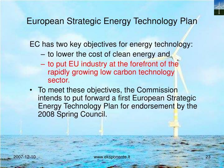 European Strategic Energy Technology Plan