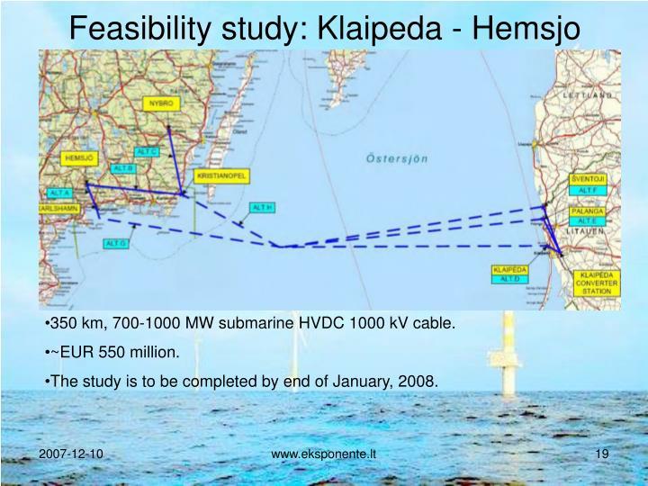 Feasibility study: Klaipeda - Hemsjo