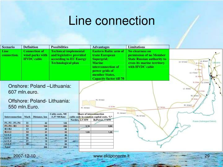 Line connection