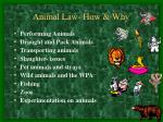 animal law how why