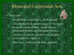 municipal corporation acts