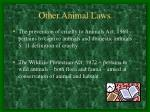 other animal laws