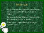 police acts