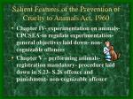 salient features of the prevention of cruelty to animals act 196011