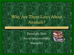 why are there laws about animals