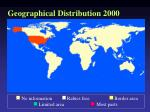 geographical distribution 2000
