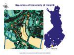 branches of university of helsinki