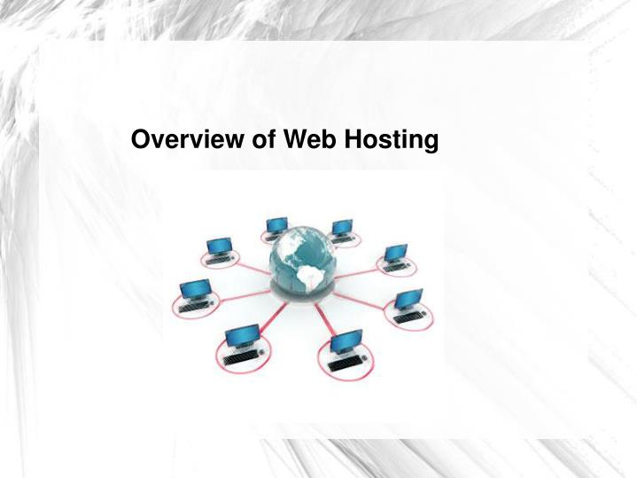 Overview of Web Hosting
