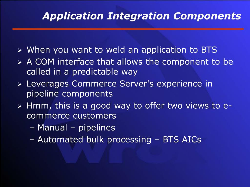 Application Integration Components