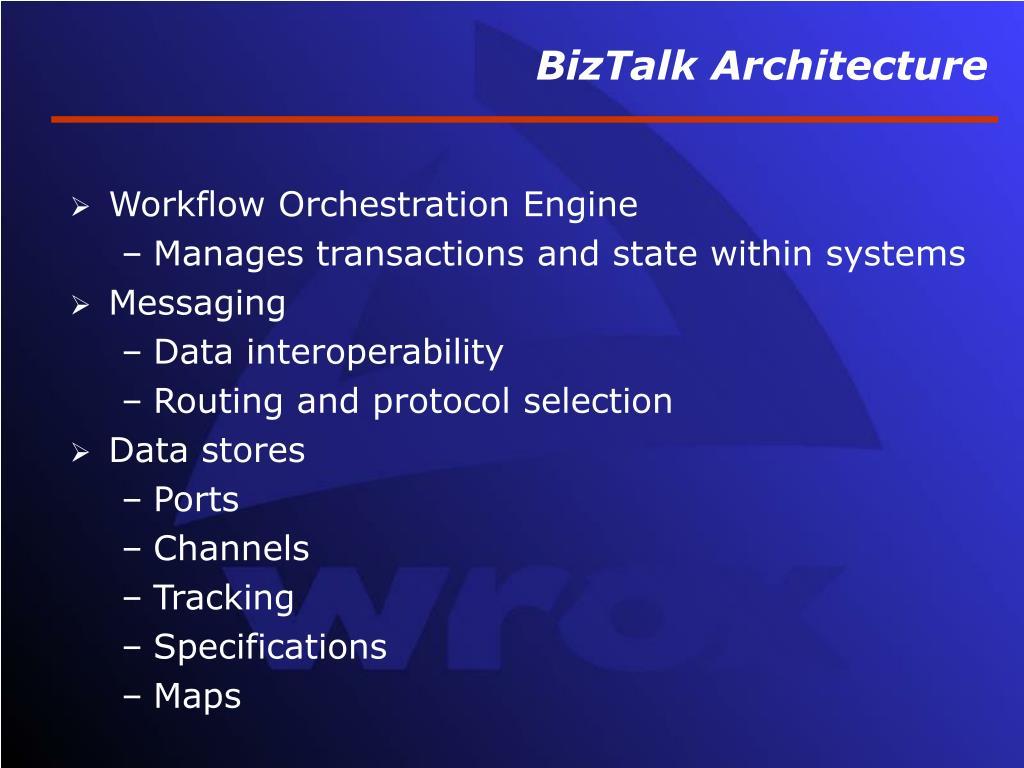 BizTalk Architecture