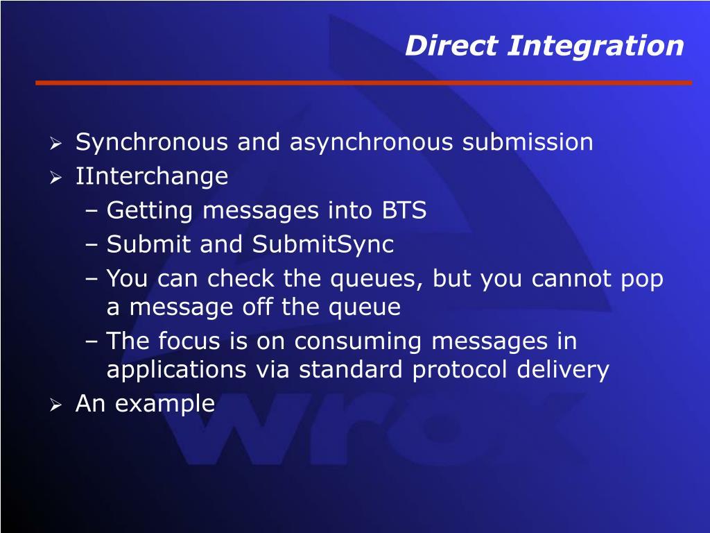 Direct Integration