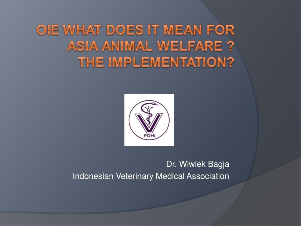dr wiwiek bagja indonesian veterinary medical association l.
