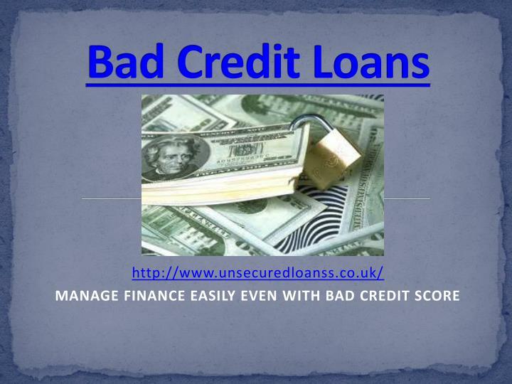 bad credit loans n.