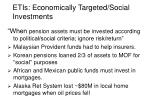 etis economically targeted social investments